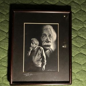 Other - albert einstein framed art